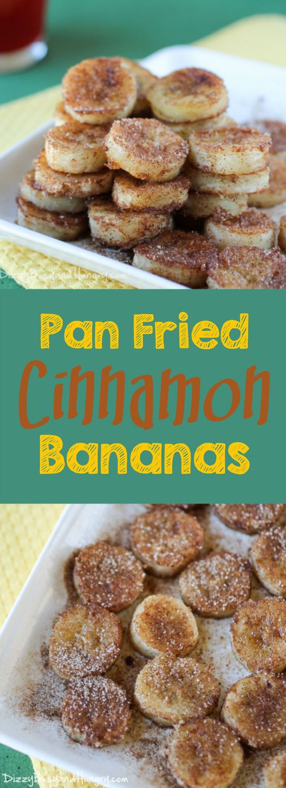 PAN FRIED CINNAMON BANANAS #cinnamon #cinnamonfried #banana #breakfastrecipes #breakfastideas #breakfast