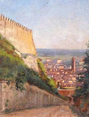 Emilio Villemain - olio su tavola - arte - dipinti - annunci