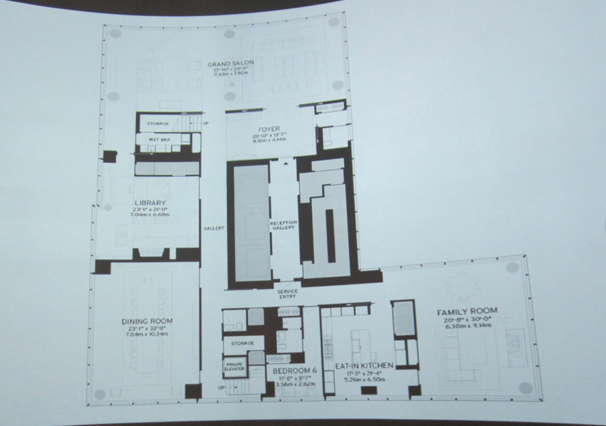 Floor plan of the One 57 by Christian de Portzamparc