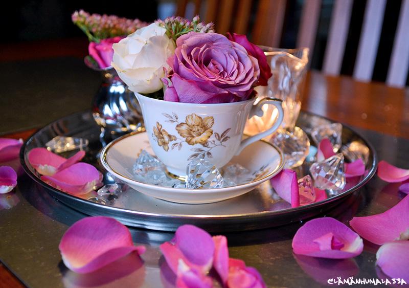 ruusu, juhlat, somisteet, arabia, myrna