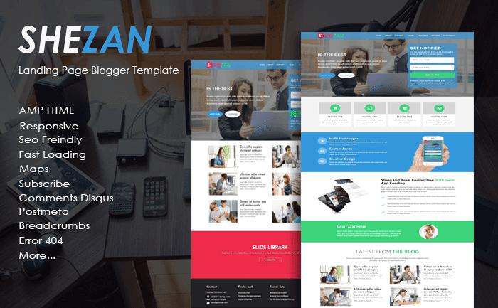 Shezan Landing Page AMP HTML Responsive Blogger Template