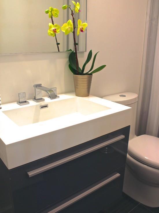 Projetos de lavabos pequenos decorados fotos toda atual - Fotos lavabos modernos ...