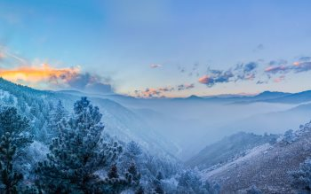 Wallpaper: Fog in the Valley