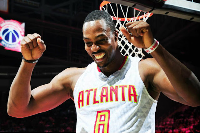 Dwight Howard sous le maillot des Hawks d'Atlanta