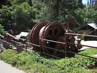 Mining equipment on the grounds of the Northstar Mining Museum, Grass Valley, California