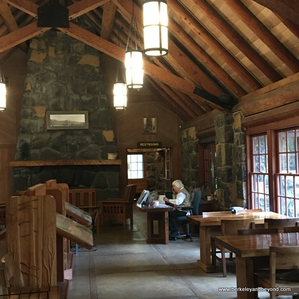 interior of South Falls Lodge in Silver Falls State Park in Sublimity, Oregon