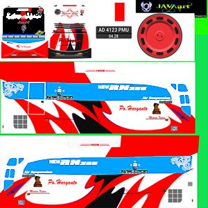 Livery Bussid Haryanto HD Merah Putih
