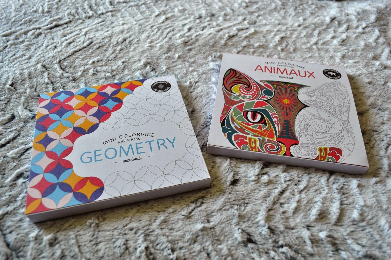 Art Thérapie Mini Coloriage Antistress Geometry Et Animaux