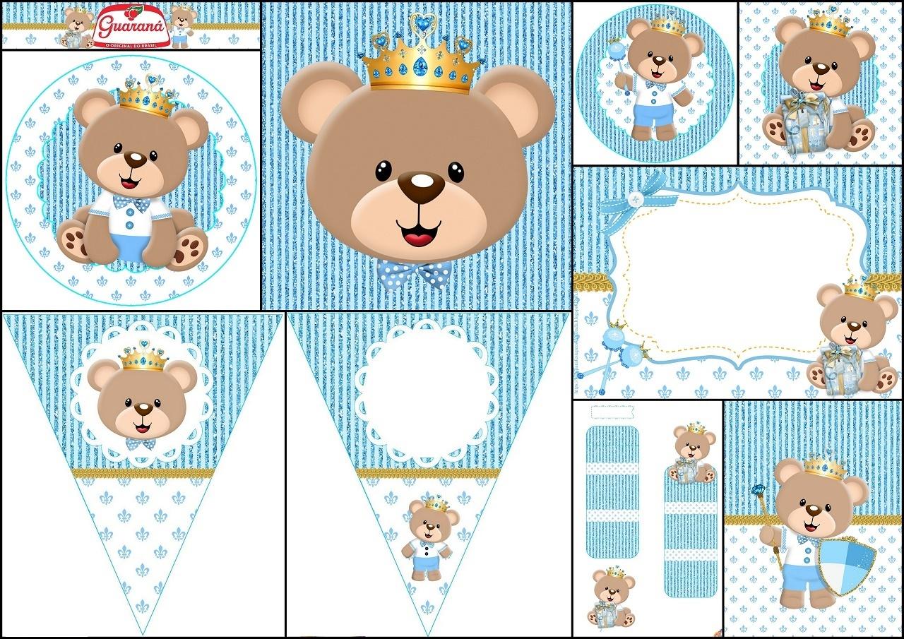 Kit de Osito Príncipe para Imprimir Gratis. | Oh My Bebé!