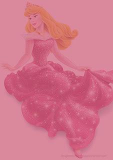 Hoja con princesa disney