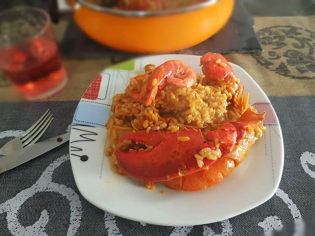 cazuela de arroz con mariscos