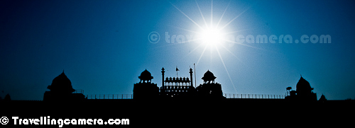 Above photograph shows silhouette of front part of Red Fort with shinning sun on the top. A friend captioned above photograph as - 'Like a Diamond in the sky' . Red Fort is again huge from inside and there is lot to explore.   Let me propose a day plan to explore Red Fort, Humayun Tomb and Qutub Minar. When I am sharing this plan I am assuming that you would be taking a taxi for a day to visit these places, as that would save your time. Metro can also be an option but it may slow you down a bit because you need to find commute from these places to the Metro stations. If you have 2 days or more, Delhi Metro can be pocket friendly option and you can use cycle-rickshaw to commute between metro station & these sites. HOHO bus by Delhi Tourism can also be a good option for moving between these sites.   So let's get started with the plan.  1. I suggest to go to Qutub Minar first and try to reach before the ticket counter opens. Queue up there and be the first one to enter into Qutub Minar campus. That is very advantageous and you would appreciate that better when you go inside. Qutub is most popular amongst these 3, so lot of folks come here. Probably Red Fort is equally crowded. Make it a point that you have good breakfast in the morning and carry water bottle with you. There is audio device available at Qutub which can be accessed from entry gate by paying some money and showing your id proof. This device help you know about various places inside the monument compound. Other way is to hire a guide who can tell you about the history associated, architecture and some interesting stories. If I have to money on this, I will go for human guide in comparison to audio guide.   2. After Qutub Minar you can head to Humayun's Tomb. Out of these 3 monuments, mine favorite in Humayun's tomb. I would recommend to keep good time for this place and I am sure you will like it. There is no provision of audio guide here, so you may want to hire a guide who can be found around the ticket 