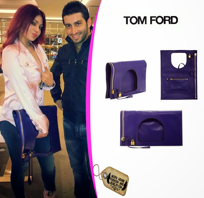 ae60014fc8 Haifa Wehbe carrying Alix Leather Padlock & Zip Shoulder Bag by Tom Ford