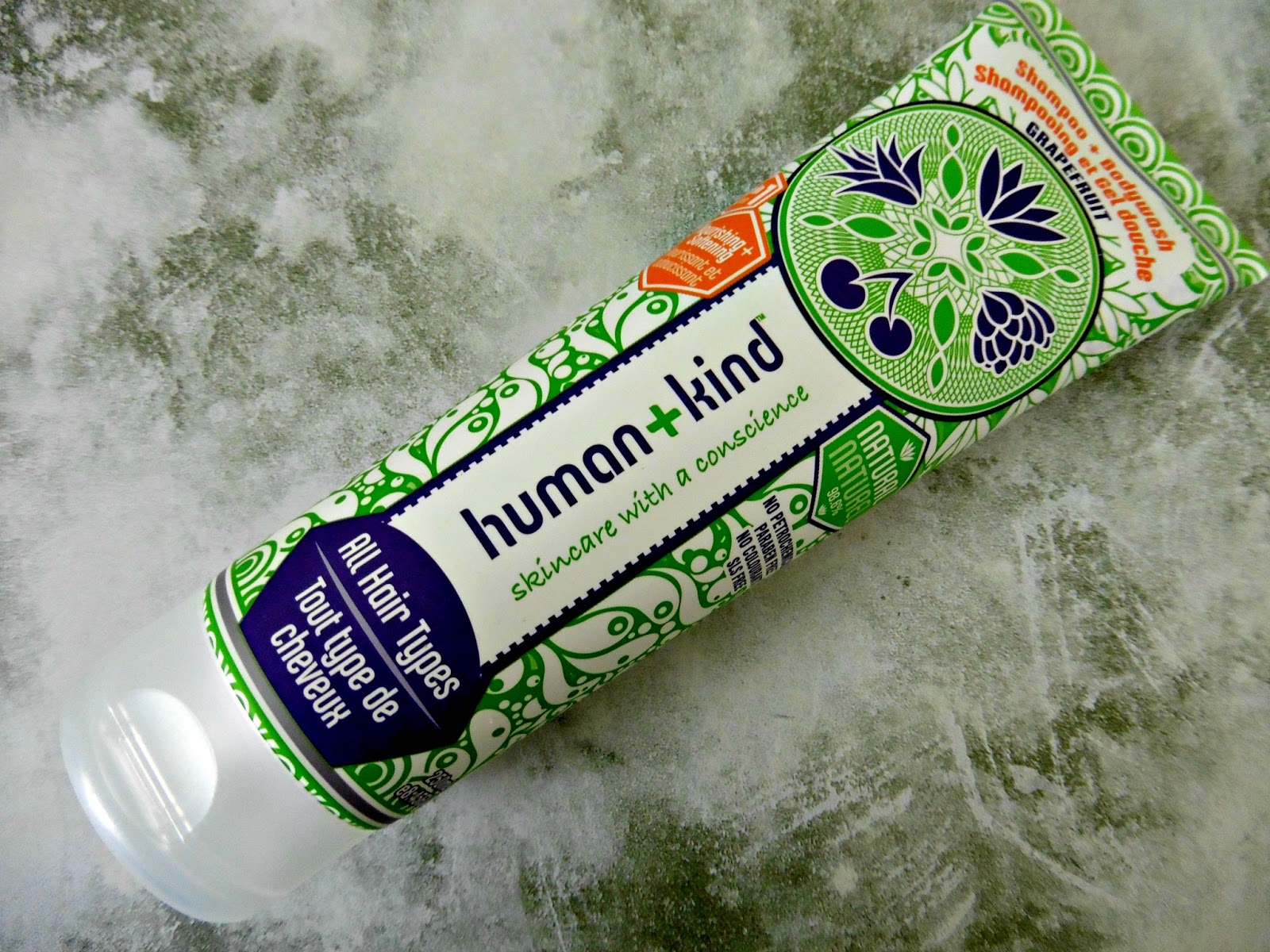 Human+Kind Grapefruit Shampoo and Shower Gel
