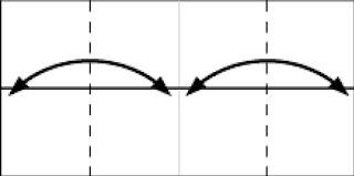 Bước 3:  Gấp tạo nếp gấp tờ giấy bằng cách gấp vào rồi mở ra tại vị trí nét đứt.