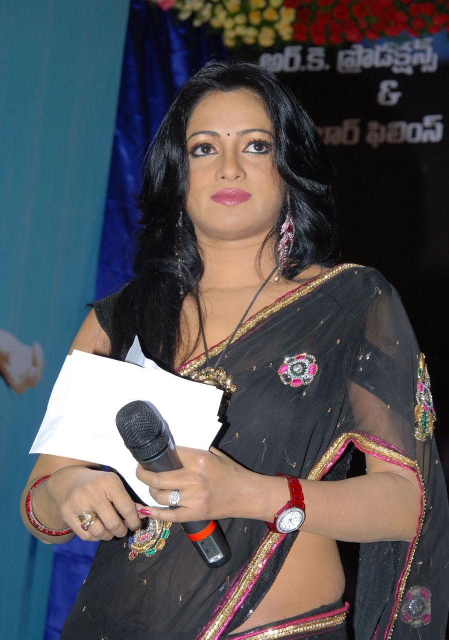 Udaya bhanu at 3 audio launch in saree
