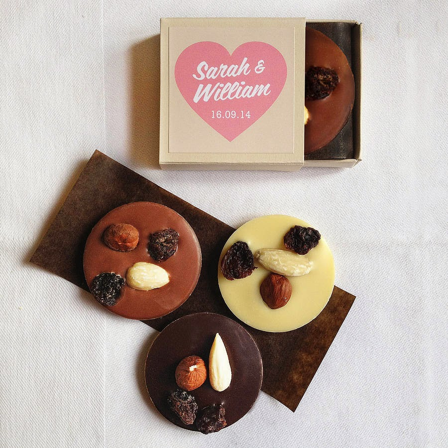 Hearts Melt With Chocolate Wedding Favors