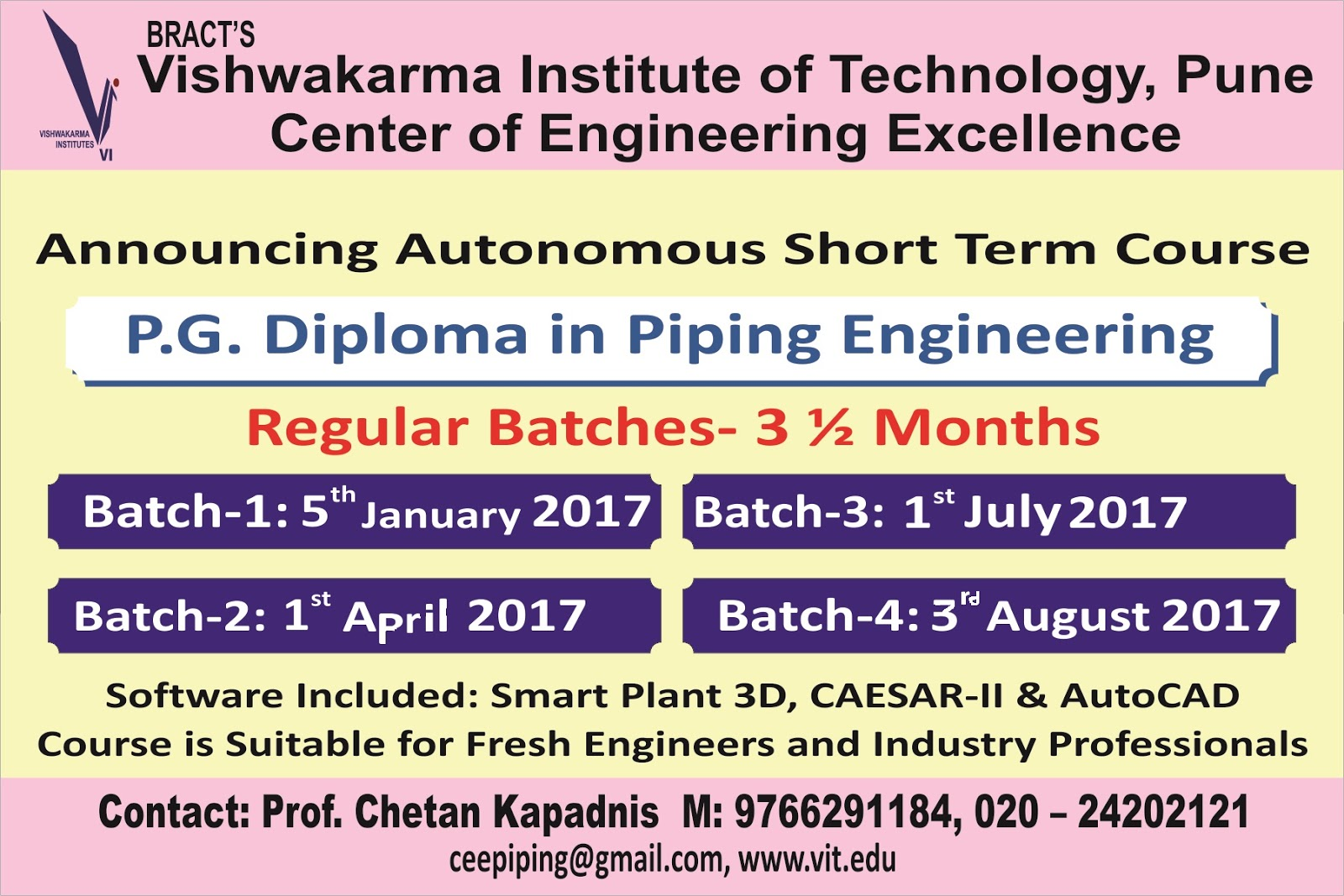Piping engineering course vit pune 15 xflitez Gallery