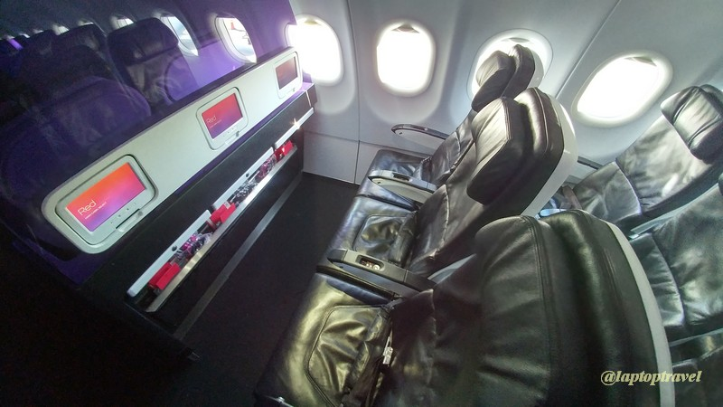 Main Cabin Select (Row 3) Seating On Virgin America A320 (Click On Image To  ENLARGE)