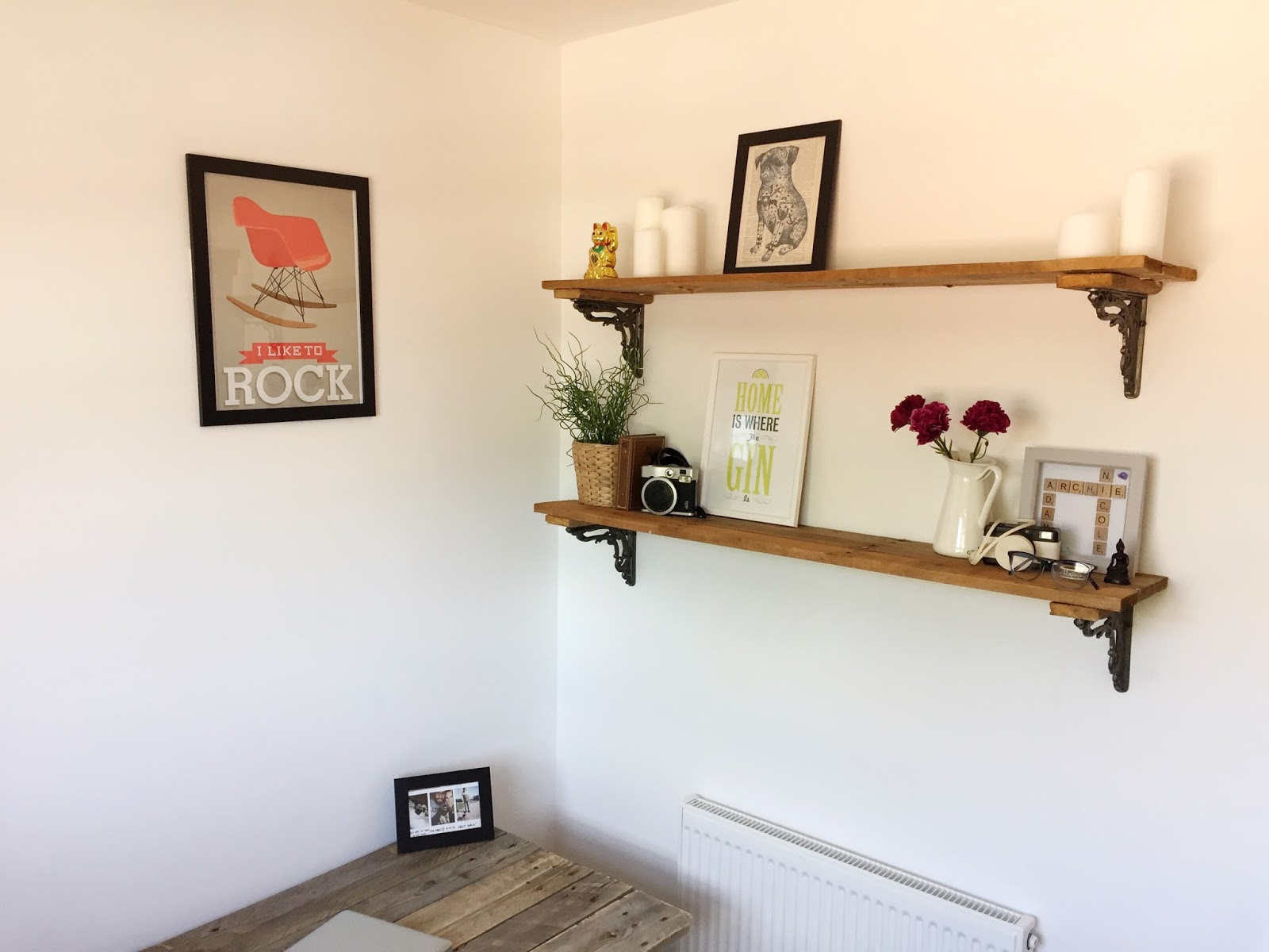Home made pallet shelves