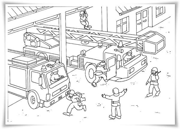 Ausmalbilder Feuerwehr: Ausmalbilder Zum Ausdrucken: Ausmalbilder Feuerwehr
