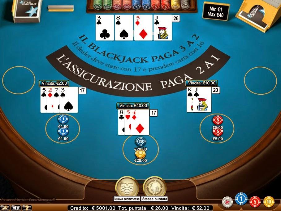 StarCasino Blackjack Screen