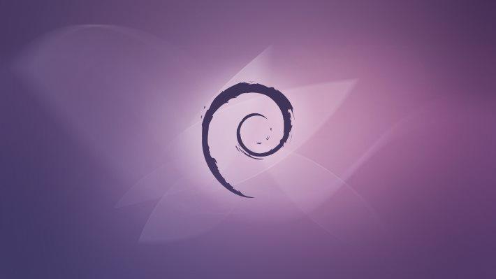 Wallpaper: Debian Violet Fluid