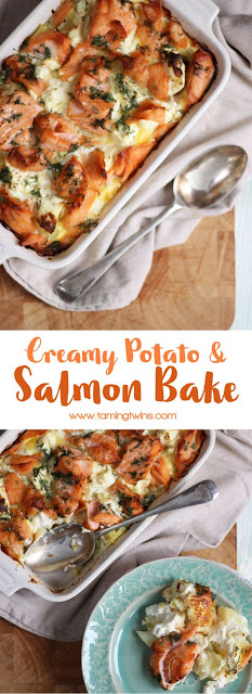 Creamy Potato & Salmon Bake