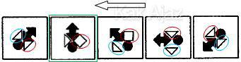 Penyelesaian Soal Figural No. 37 TKPA SBMPTN 2016 Kode Naskah 321, pola gambar: rotasi 45 derajat, berganti bentuk, berbalik arah tiap 2 pola
