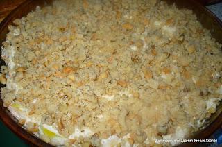 пирог подготовлен к выпечке