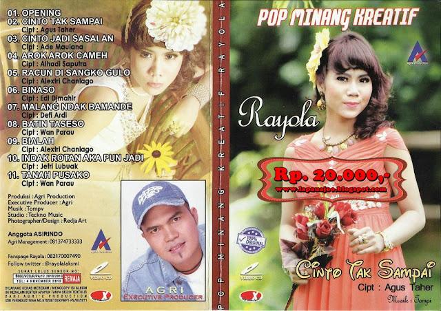 Rayola - Cinto Tak Sampai (Album Pop Minang Kreatif)