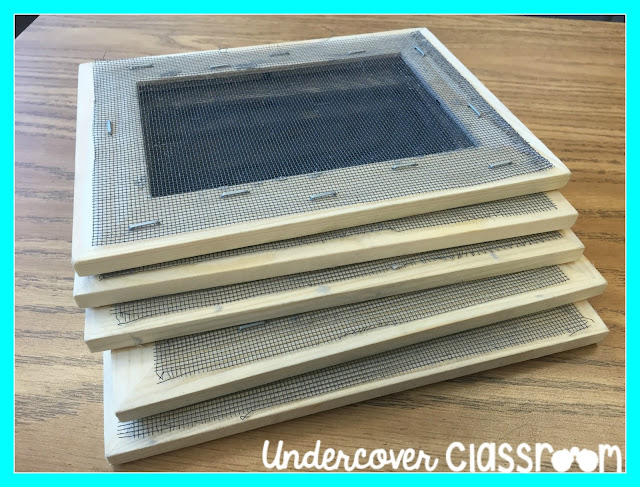 These screens are easy to make with inexpensive photo frames, wire mesh, and a staple gun.