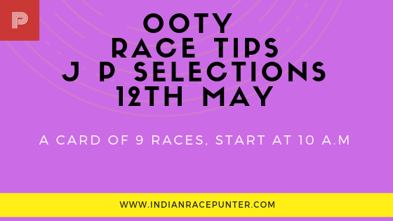 Ooty Race Tips 12th May