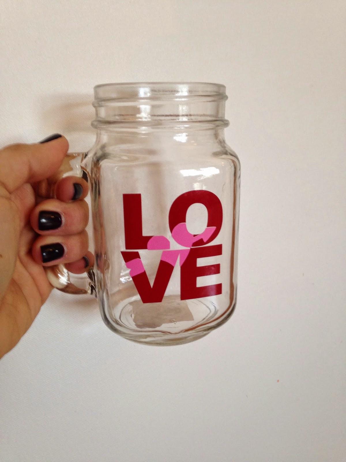 Silhouette tutorial, Silhouette Studio, HTV, vinyl, paper, knockout design, mason jar mug