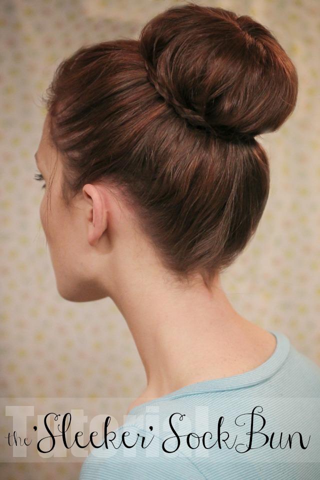The Freckled Fox Hair Tutorial The Sleeker Sock Bun
