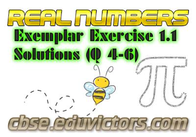 CBSE Class 10 - Maths - Real Numbers (NCERT Exemplar Solutions Ex 1.1 Q4-6) (#cbsenotes)(#eduvictors)