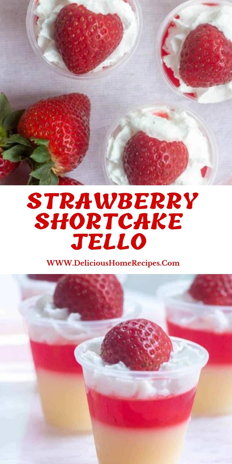 Strawberry Shortcake Jello #christmas #dessert
