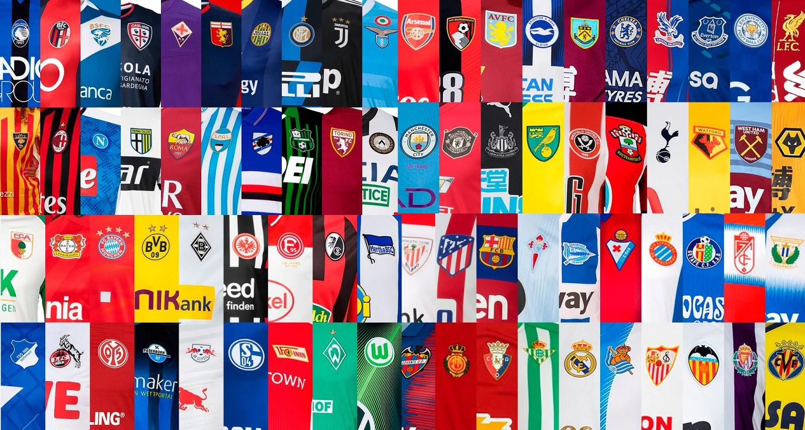Which Is The Best All 300 Premier League Bundesliga La Liga Ligue 1 Serie A 2019 20 Kits Kit Guide Footy Headlines