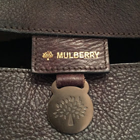 Mulberry imprint, front and back of Mulberry fob