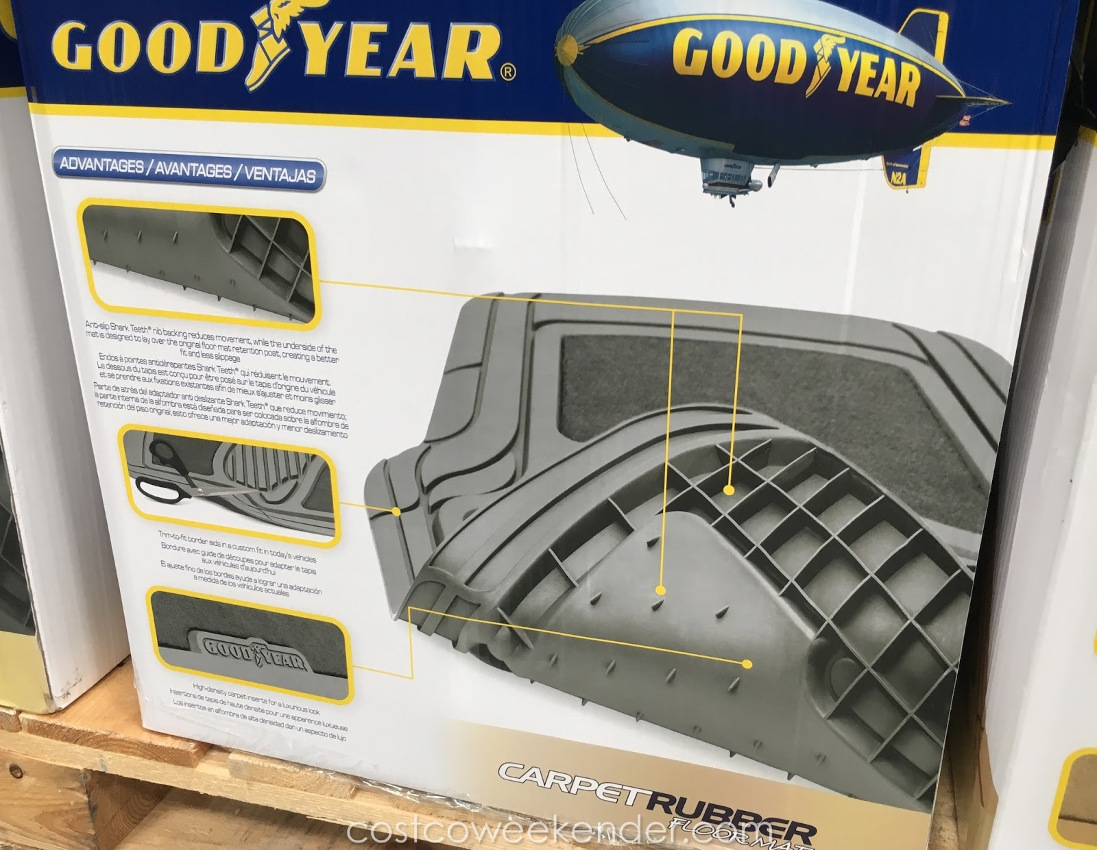 Rubber mats costco - All Weather Goodyear Carpet Rubber Floor Mats Designed For Rain Mud Snow