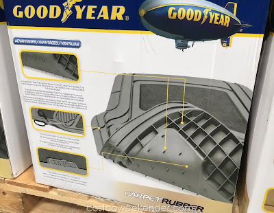 All weather Goodyear Carpet Rubber Floor Mats - designed for rain, mud, snow, etc