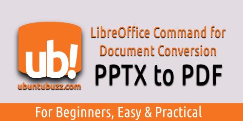 Ubuntu Buzz !: LibreOffice Command Line: Convert Multiple