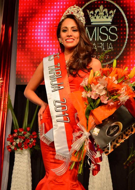 Gabriela Espíndola Baldivieso es elegida Miss Tarija 2017