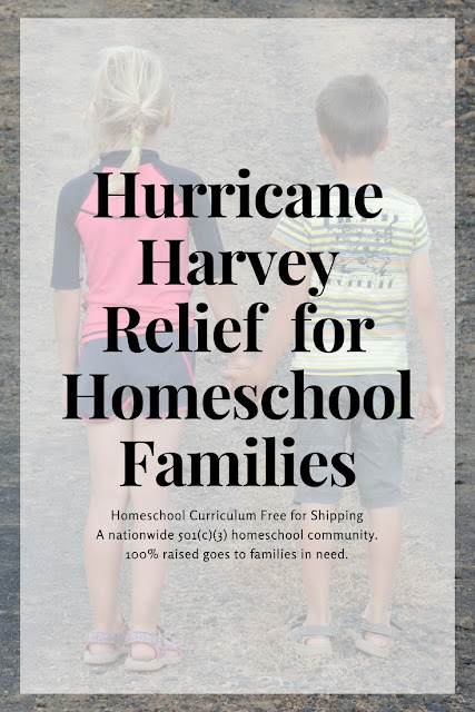Hurricane Harvey Houston Texas relief fund for homeschool families