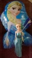 Queen Elsa Doll and Balloon
