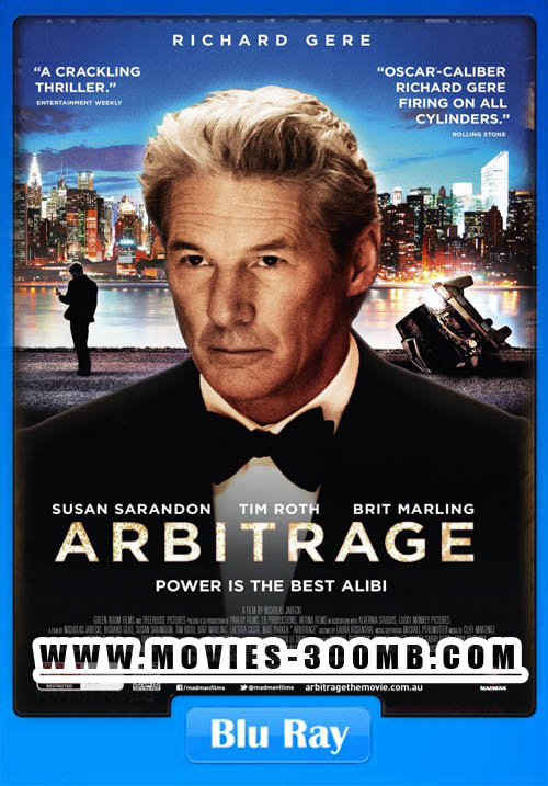 Arbitrage 2012 Dual Audio BRRip 300MB Poster