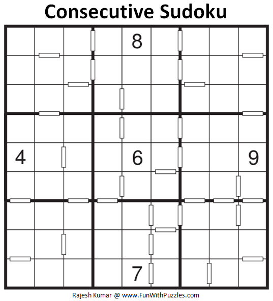 Consecutive Sudoku (Daily Sudoku League #135)