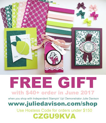 Special Offer from Independent Demonstrator Julie Davison: June 2017: Free In Color Sampler and Free Project Kit with $40+ order ~ United States Only