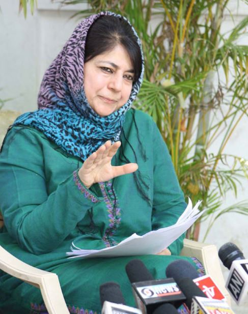 No Need of America and China's intervention in Jammu Kashmir: Mehbuba