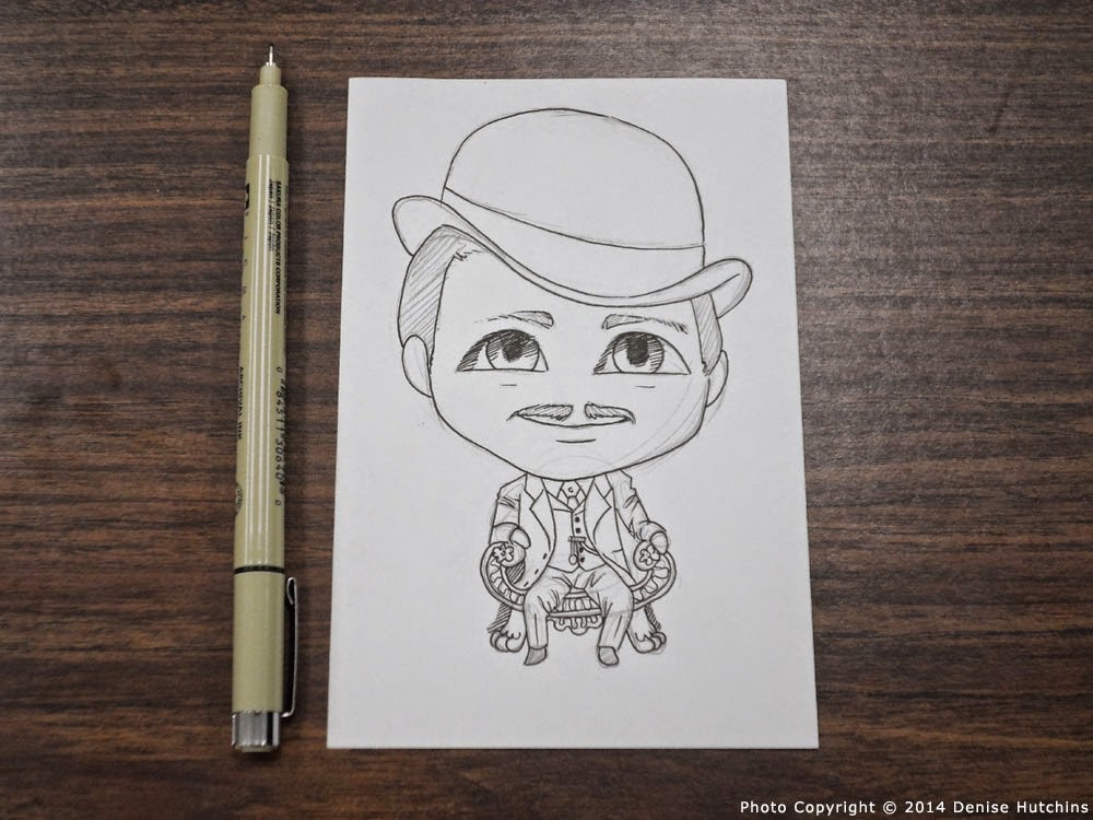 Partially Inked Drawing of Chibi Butch Cassidy